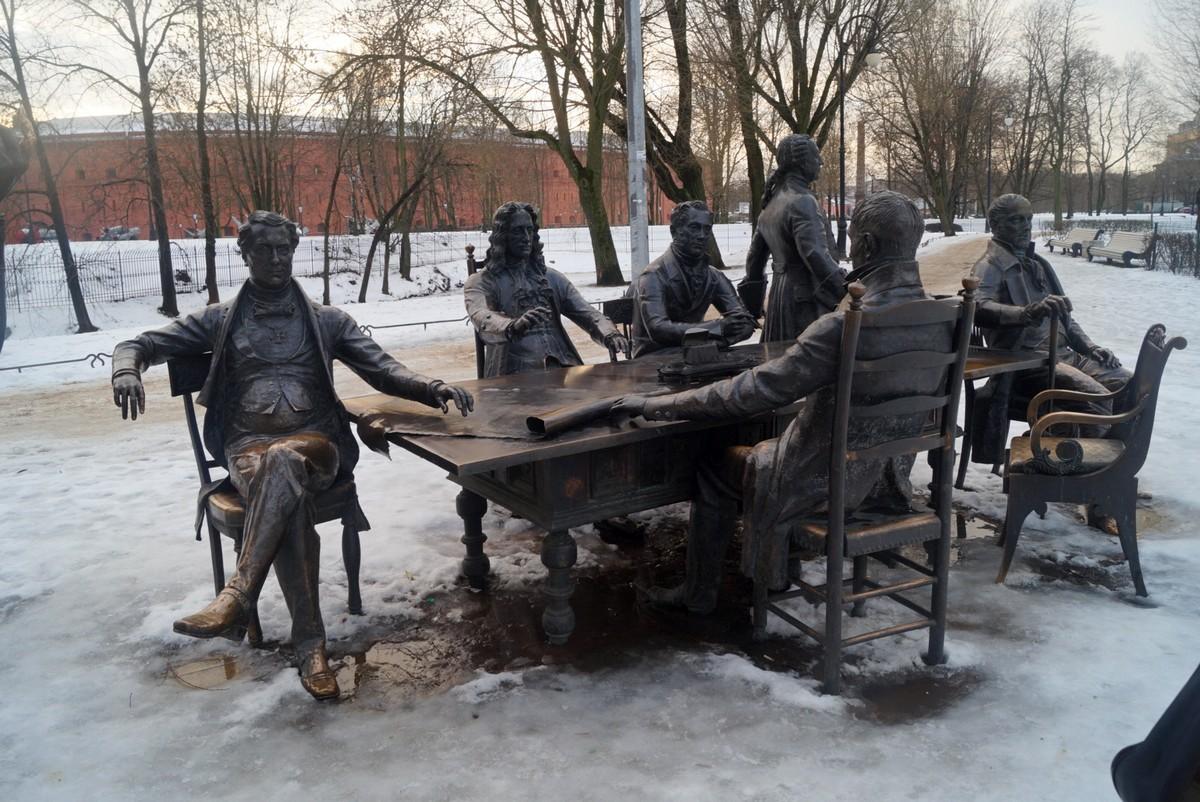 Санкт-Петербург. Великие зодчие у Кронверка. С планом города.