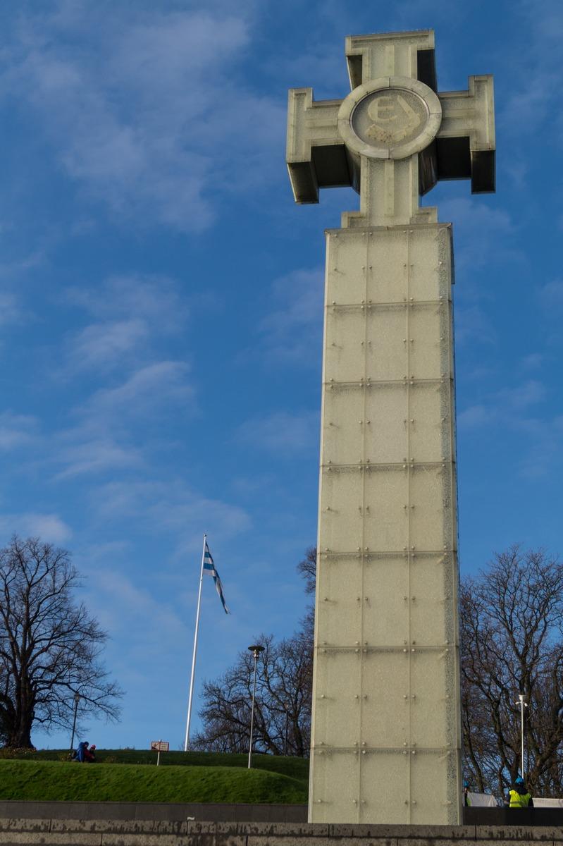 Таллин. Монумент на площади Свободы.