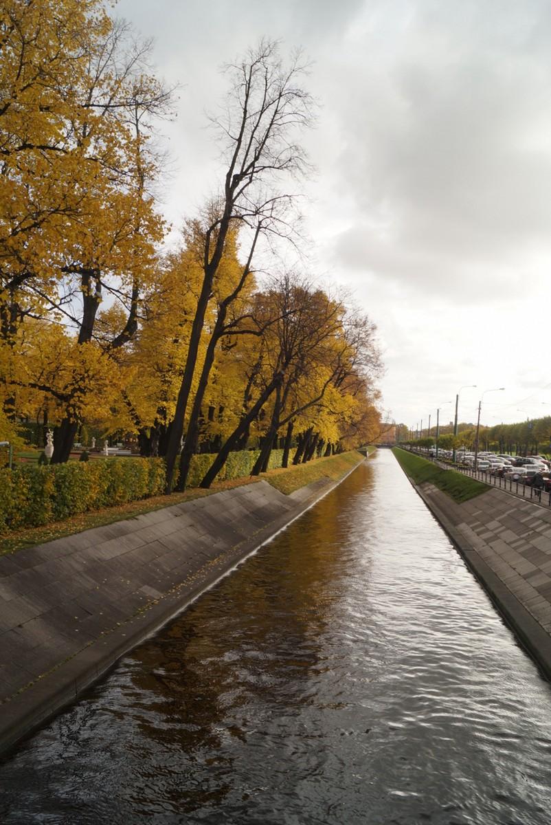 Санкт-Петербург. Лебяжья канавка в октябре.