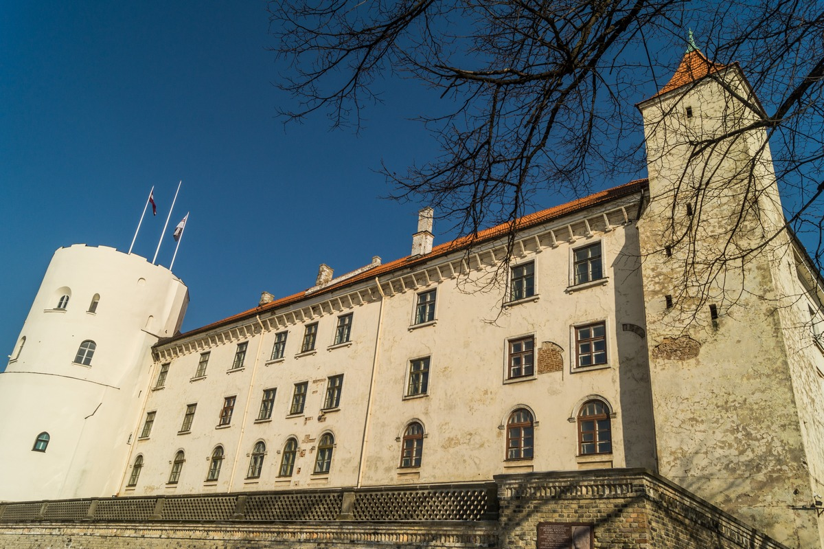 Рига. Вид на Рижский замок с набережной Даугавы.
