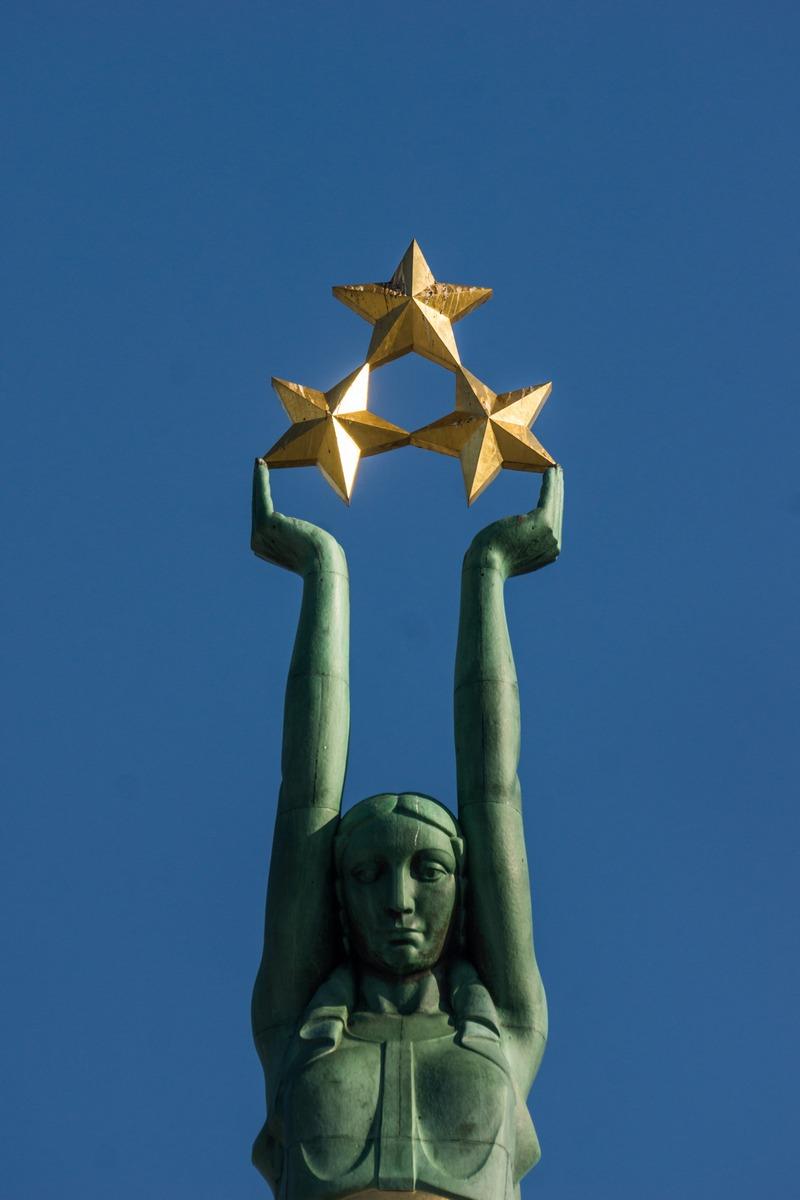 Рига. Латышская Милда - памятник Свободы.