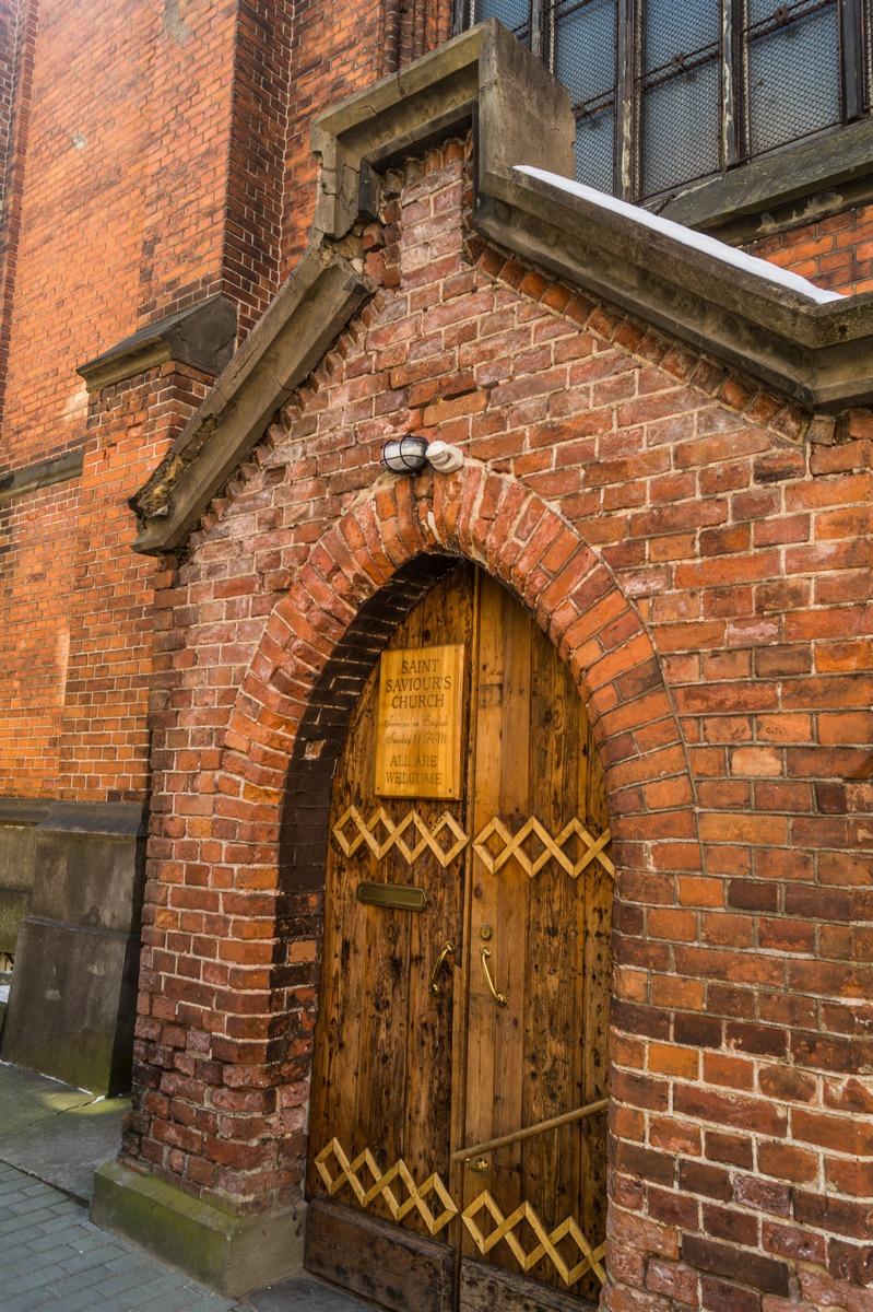 Рига. Англиканская церковь Святого Искупителя. ALL ARE WELCOME.