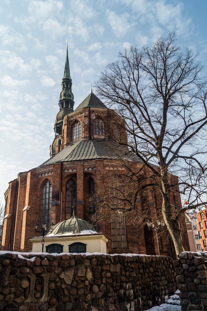 Рига. Собор Святого Петра. Задний фасад. Или апсида.