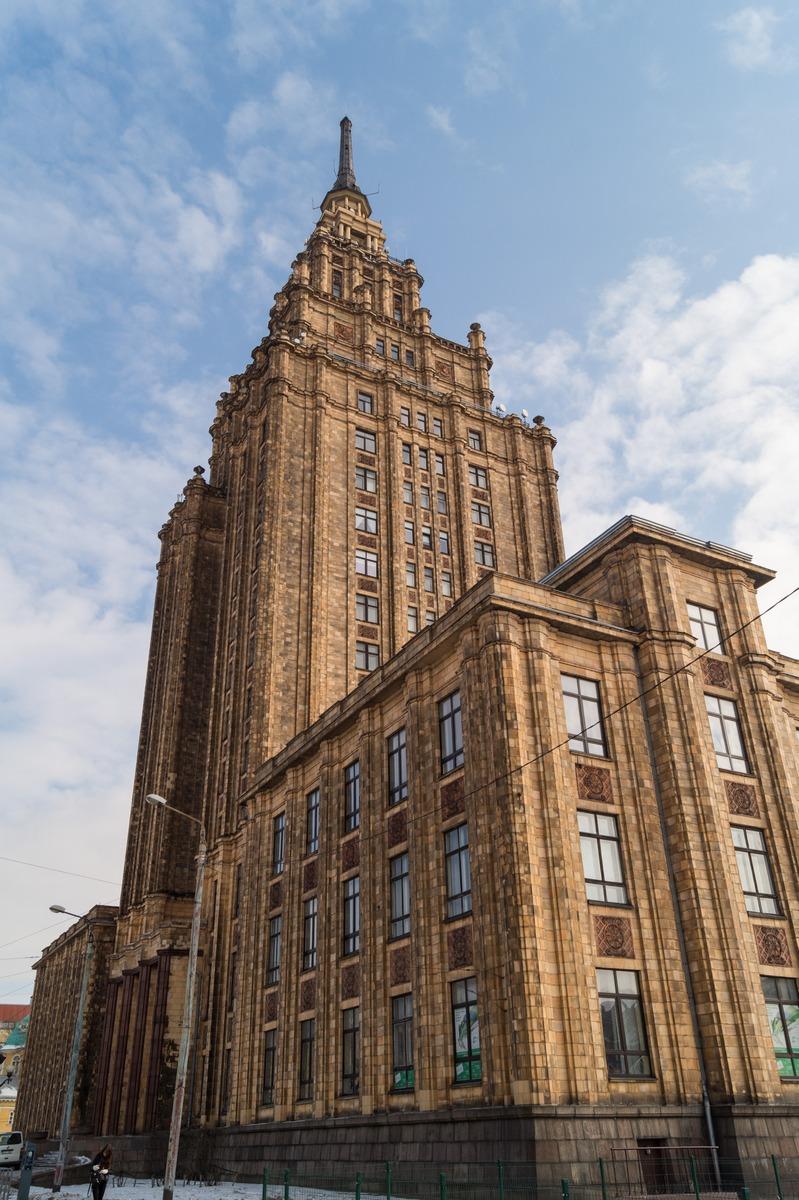Рига. Здание Академии наук Латвии.